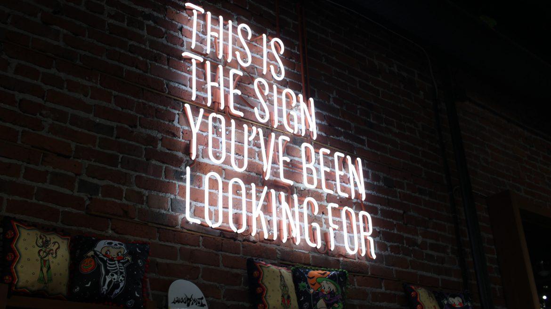 """今天我想聊,对于 """"Sign"""" 的觉察。"""